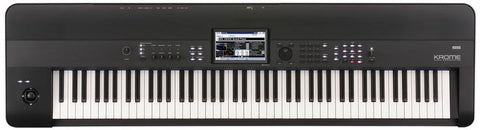 Korg KROME-88 4GB Kronos Based 88-key weighted action Workstation,Color Touchview,USB Keyboard Workstation