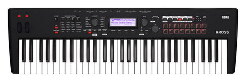 KROSS 261 BM 61 Key Keyboard Workstation Black - L.A. Music - Canada's Favourite Music Store!