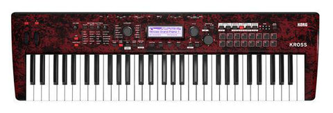 Korg KROSS 261 RM 61 Key Keyboard Workstation Red Marble