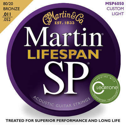 Martin Guitars SP Lifespan 80/20 Bronze Acoustic Strings - 11-52 Custom Light - L.A. Music - Canada's Favourite Music Store!
