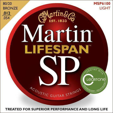 Martin Guitars SP Lifespan 80/20 Bronze Acoustic Strings - 12-54 Light