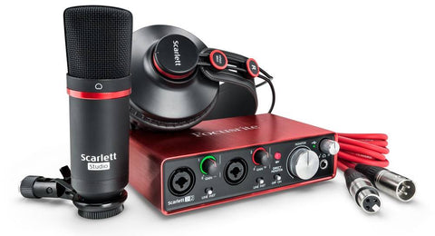 Focusrite ScarlettSoloStudioPack USB Audio Interface with CM25 Condenser Microphone and HP60 Headphones