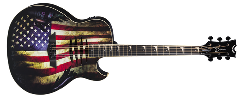 DEAN MAKO DAVE MUSTAINE ACOUSTIC ELECTRIC USA FLAG