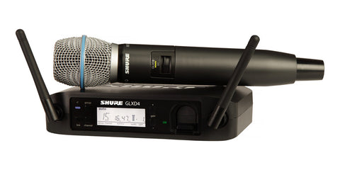 Shure GLXD24/B87A-Z2 Wireless Handheld System with BETA87A Microphone