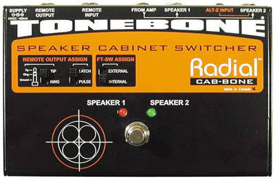 Radial Tonebone Cabbone Speaker cabinet switcher for 100 Watt amps. PSU included