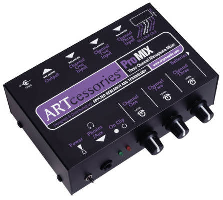 ART - 3 CH MINI MIXER - L.A. Music - Canada's Favourite Music Store!