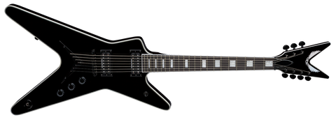 DEAN ML SELECT 7 STRING CLASSIC BLACK