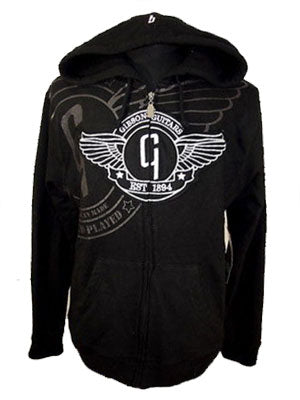 Gibson Men's Hoodie - Black with Gibson logos and trim - L.A. Music - Canada's Favourite Music Store!