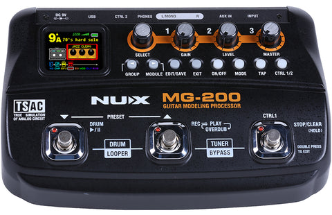 NUX MG-200 Guitar Modeling Effects Processor