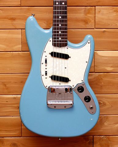 Fender 1966 Mustang Daphne Blue All Original Serial Number 132943