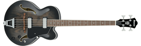 Ibanez AFB200-TKS Artcore 4 String RH Hollowbody Acoustic Bass Guitar-Transparent Black Sunburst