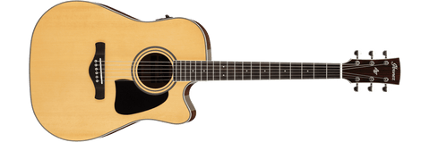 Ibanez AW70ECE-NT Artwood Series Acoustic Electric Guitar Natural High Gloss