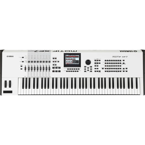 Yamaha MOTIF XF7 White Limited Edtion 76 Key Keyboard Workstation