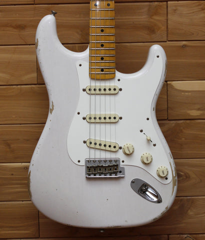 Fender Custom Shop 1957 Relic Stratocaster, Maple Fingerboard, White Blonde 1555702801 - L.A. Music - Canada's Favourite Music Store!