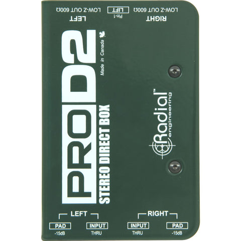 Radial ProD2 Passive 2 channel DI, compact design with 2 Radial transformers