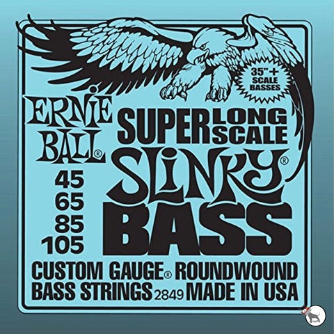 Ernie Ball Roundwound Bass 4-String Super Long Scale Slinky EBP02849