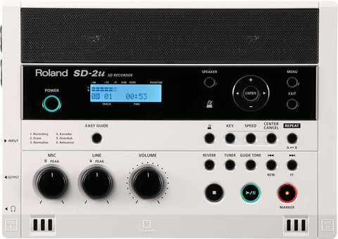Roland SD-2U Portable SD Recorder with Built-in Stereo Microphones