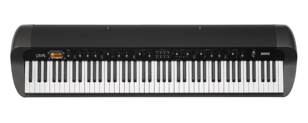 Korg 88-key RH3 EDS Stage Vintage keyboard with Vintage FX+12AX7 tube,Black