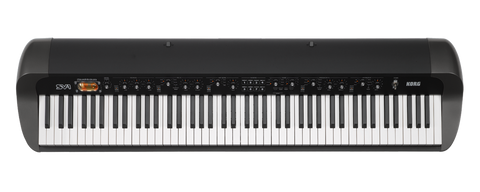 Korg 73-key RH3 EDS Stage Vintage keyboard with Vintage FX+12AX7 tube,Black