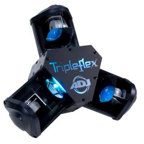 American DJ Tripleflex High Energy DMX -512 LED Centerpiece Lighting Effect with Three Scanning Heads
