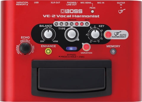 Boss VE2 Vocal Harmonist - L.A. Music - Canada's Favourite Music Store!