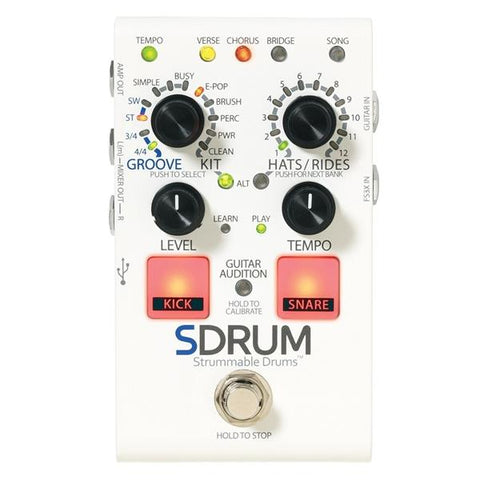 Digitech SDRUM Strummable Drums Pedal - L.A. Music - Canada's Favourite Music Store!