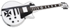 ESP LTD James Hetfield Iron Cross Electric Guitar Snow White with Stripes Graphic