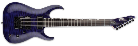 "ESP LTD Brian ""Sir Headly"" Welch Head-7 See Thru Purple LSH7ETFMSTP"
