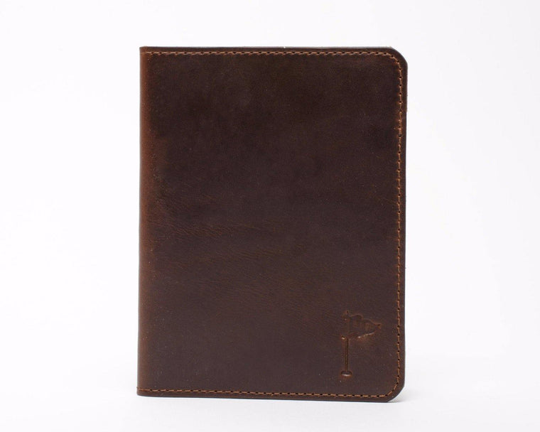 Horween Collection Leather Minimalist Golf Scorecard Holder in Chromexel Brown