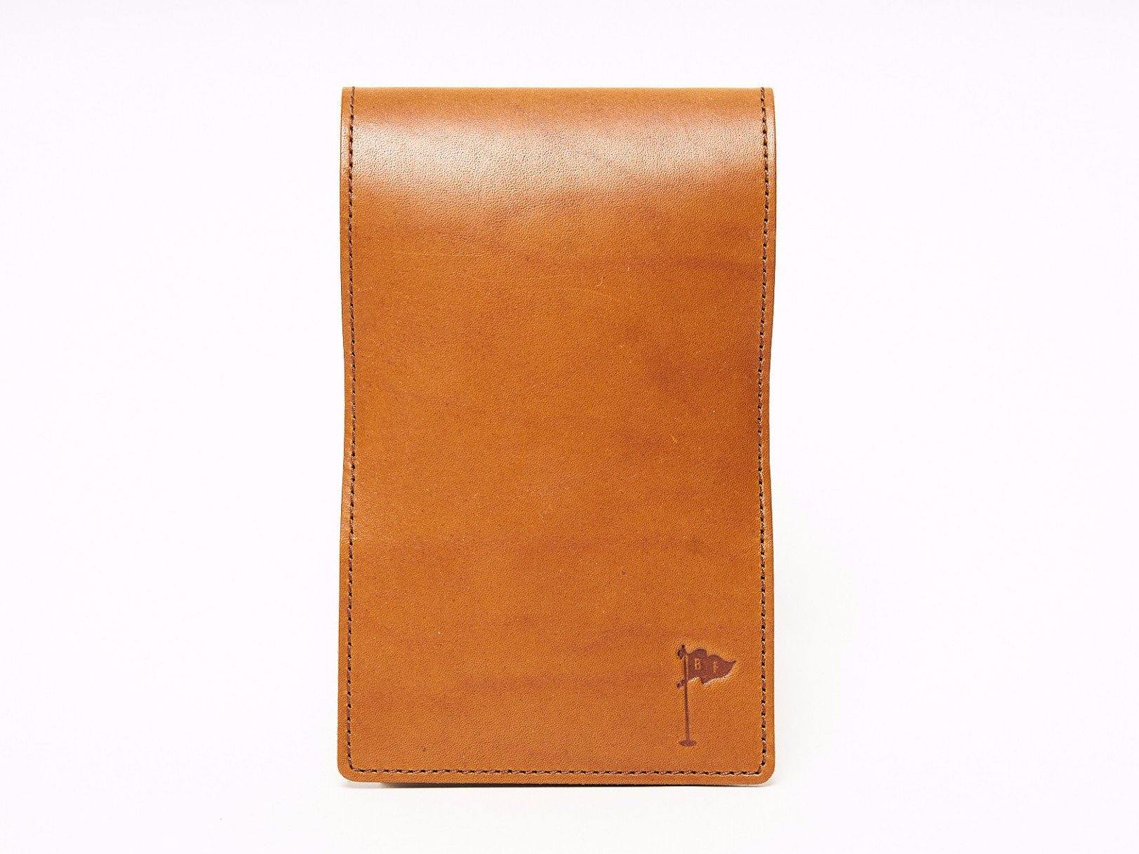 50e5ff77a28 Handmade Leather Golf Scorecard Holder   Yardage Book in Horween Essex  Tobacco