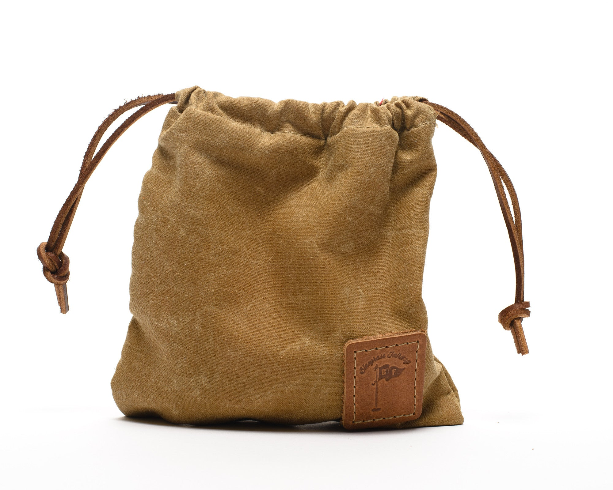 Waxed Canvas Golf Valuables Field Pouch in Tan