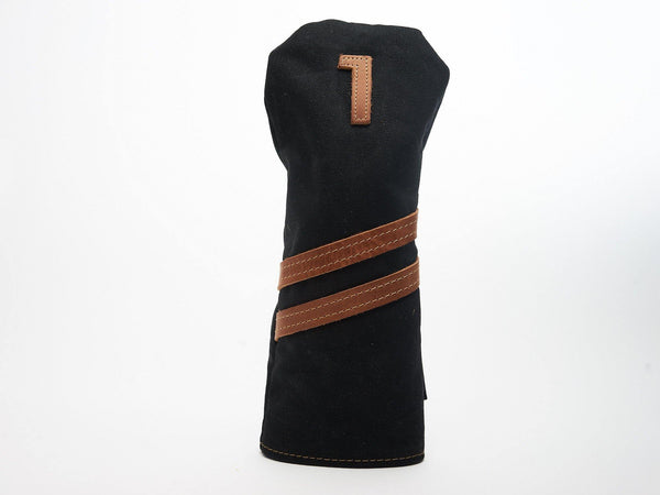 Invitational Edition Waxed Canvas golf Headcover in Black Driver