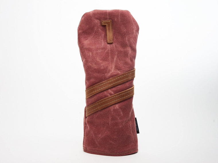 Invitational Edition Waxed Canvas golf Headcover in Nantucket Red Driver