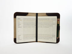 Horween Collection Leather Minimalist Golf Scorecard Holder in Dublin Cognac
