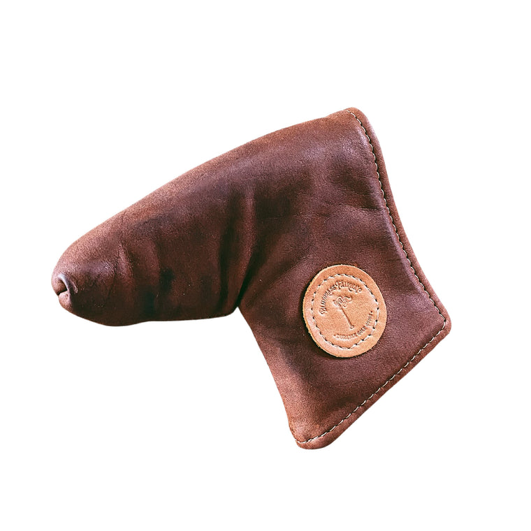 Redan putter cover in Chestnut leather
