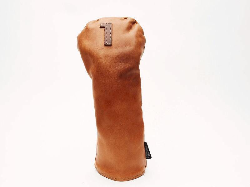 Americana Edition leather golf Headcover in Tan Driver