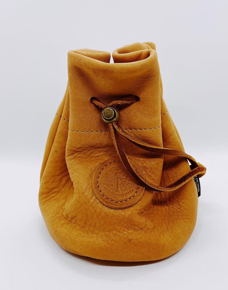 Leather Golf Valuables Field Pouch in Natural