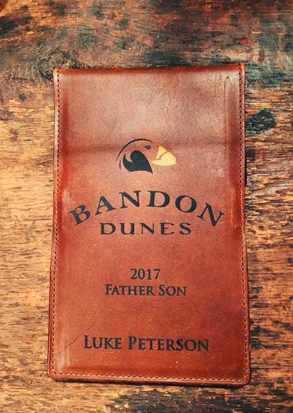 Scorecard holder with fully Custom logo or Custom message