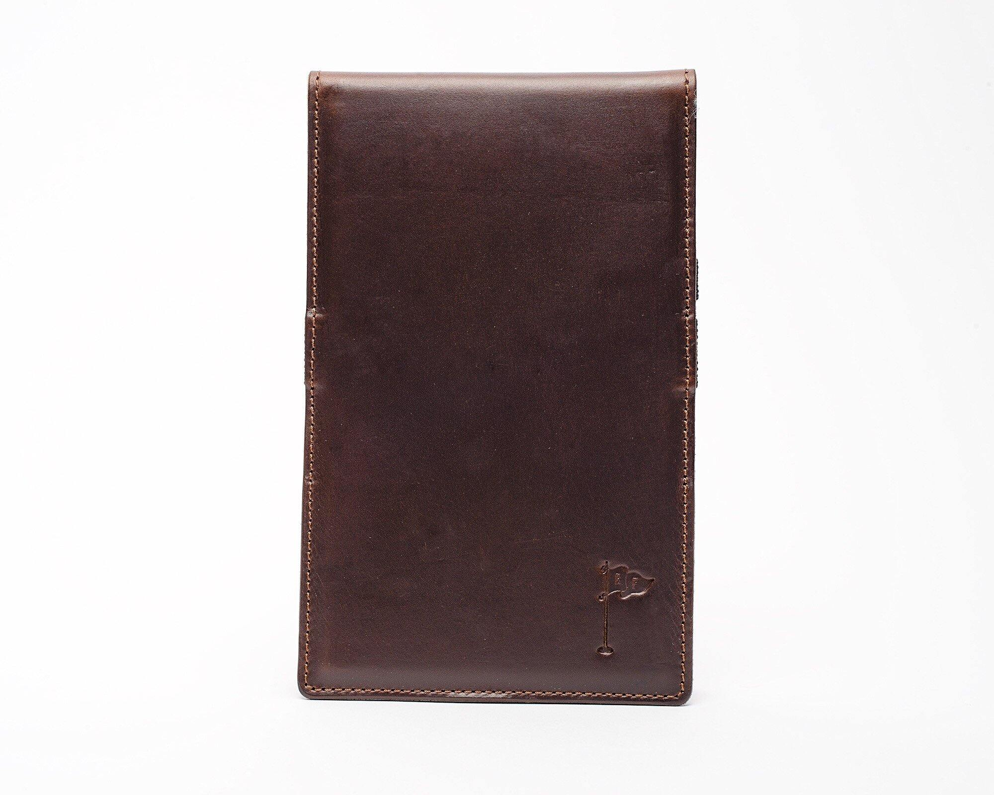 Horween Collection Leather Golf Scorecard Holder/ Yardage Book in Chromexel Dark Brown