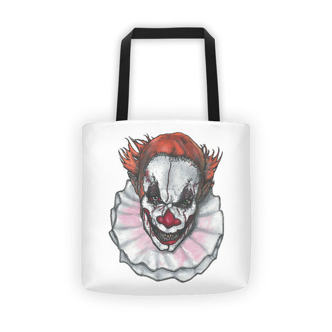 Scary Clown by Robert Bowen Tote Bag - Robert Bowen Tees