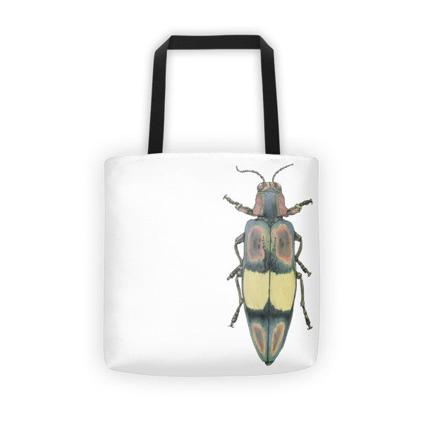 Coloured Beetle by Robert Bowen Tote Bag - Robert Bowen Tees