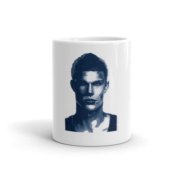 Comic Model Man Blue Ink by Robert Bowen Mug - Robert Bowen Tees