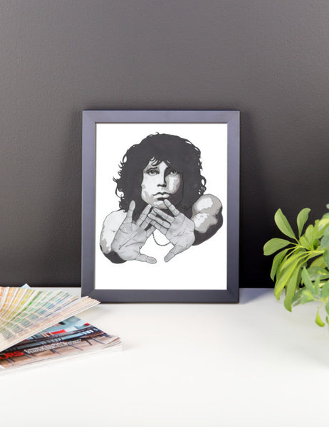 Jim Morrison by Robert Bowen Framed Poster - Robert Bowen Tees