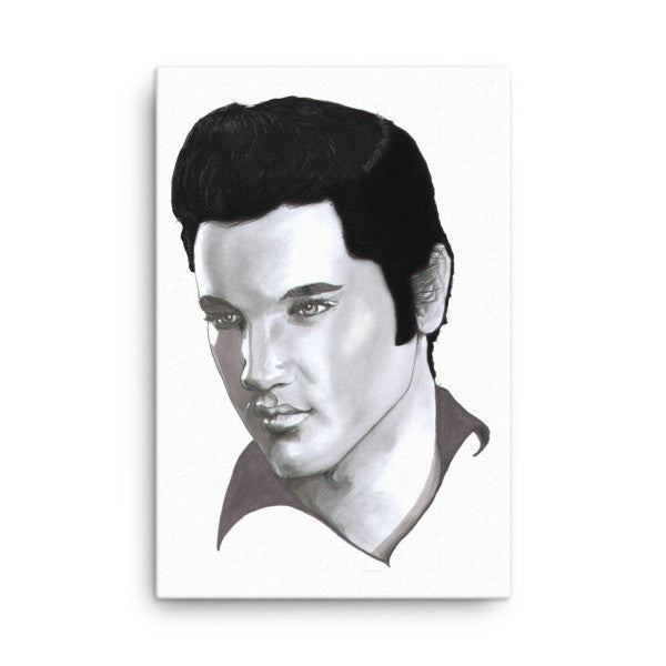 Elvis by Robert Bowen Canvas - Robert Bowen Tees