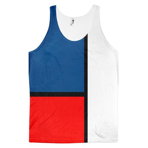 Block Colours Two Unisex Tank Top by Robert Bowen - Robert Bowen Tees