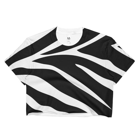 Zebra Ladies Crop Top - Robert Bowen Tees