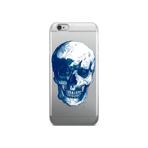 Skull Blue Ink iPhone case - Robert Bowen Tees