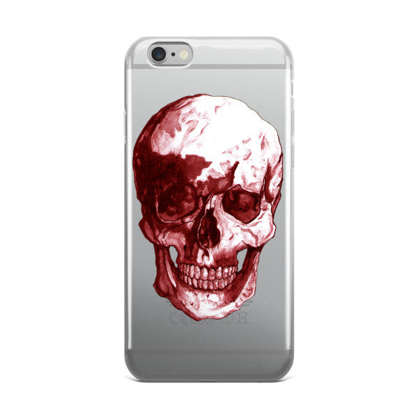 Skull Red Ink iPhone case - Robert Bowen Tees