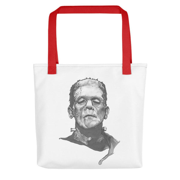 Frankenstein Tote Bag Illustrated by Robert Bowen - Robert Bowen Tees