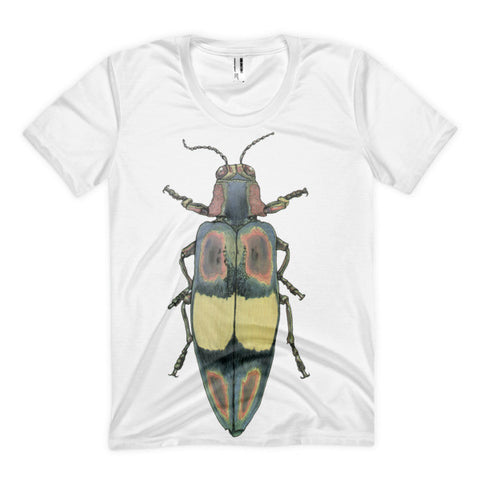Coloured Beetle by Robert Bowen Women's Sublimation T-Shirt - Robert Bowen Tees